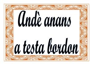 Andè-anans-a-testa-bordon