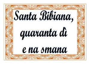 Santa-Bibiana-quaranta-dì-e-na-smana
