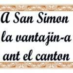 A San Simon la vantajin-a ant el canton