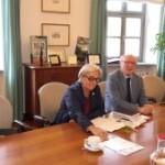 L'ex sindaco Scimone a colloquio con gli esponenti dell'esecutivo Sibille