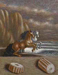 De Chirico, Cavalli in riva al mare
